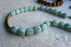 New in my Etsy store! Indonesian glass bead necklace