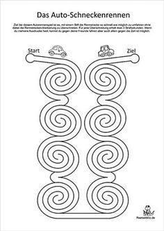 Car racing games for kids to print - Racing Games For Kids, Kindergarten Portfolio, Brain Gym, Pre Writing, Teaching Cursive Writing, Handwriting Practice, Free Preschool, Worksheets For Kids, Kindergarten Activities