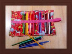 Penál obal Obal na pastelky, háčky , štětce nebo jiné potřebx. Vyrobím na zakázku. Tento je na 24 pastelek.