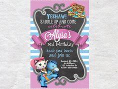 Invitación del cumpleaños de Callie sheriff invitar por VPrintables
