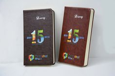 https://flic.kr/p/MVcyRA | Digital LED UV direct embossed printing on leather notebooks