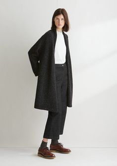 Women's Knitted Donegal Tweed Coat