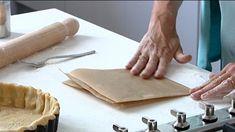 Peanut salted caramel and chocolate tart recipe - BBC Food Rhubarb And Custard, Custard Tart, Meringue Pie, Rhubarb Meringue, Frangipane Tart, Bakewell Tart, Baking Parchment, Thing 1, Tart Recipes