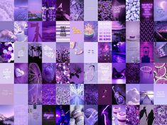 Aesthetic Deep Purple Lavender Violet Aesthetic Photo Wall Collage Kit | 70 photos | Digital Copy