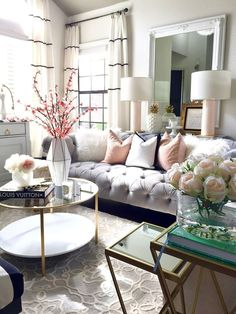 Home and Fabulous was founded & created in 2014 as a creative outlet to share her passion for interior design as well as DIY projects with the world. Lizbeth is best Known for her modern style with a Glam Living Room, Living Room Interior, Living Room Decor, Living Rooms, Living Room Inspiration, Home Decor Inspiration, Decor Ideas, Decorating Ideas, Interior Exterior