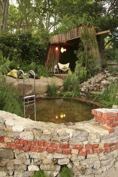 Whirlpool Einbauen Ideen Stein Naturnahes Design | Schwimmbäder ... Whirlpool Garten Einbauen Ideen