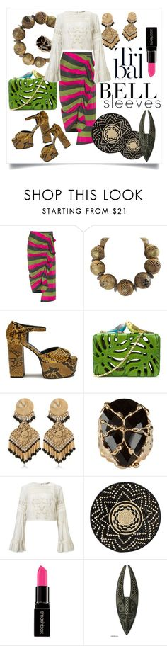 """""""Tribal Bell  Sleeves"""" by capricat ❤ liked on Polyvore featuring Isa Arfen, Mulberry, Sarah's Bag, Etro, Rosantica, Miss Selfridge, DAY Birger et Mikkelsen, Smashbox and NOVICA"""