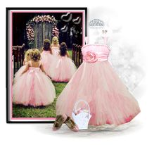 """Rose Princess Tutu Dress"" by dkelley-0711 ❤ liked on Polyvore featuring Williams-Sonoma, Bling Jewelry, Valentino, Lillian Rose, Aaron Basha, 1928 and etsy"