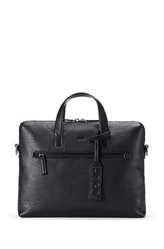 Grained Leather Workbag | Victorian S Doc Black from HUGO for Men for $545.00 in the official HUGO BOSS Online Store free shipping