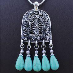 jóias vintage victoria prata antigo chapeado escudo pingente turquesa colar tn135 US $3.99