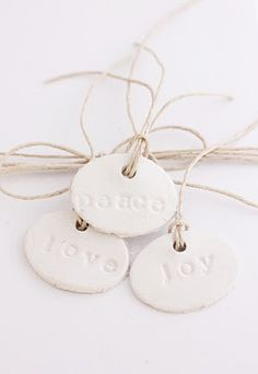 Gift tags...ornaments...special with jewelry order maybe?  just a little something special.