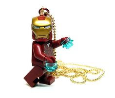 Iron Man Necklace made from NEW Superhero Iron Man by MoLGifts, $18.00
