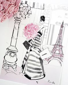 """1,423 Likes, 25 Comments - Kerrie Hess Illustrator (@kerriehessillustration) on Instagram: """"Paris Bloom... Next love to arrive in the print shop! #paris #pfw www.kerriehess.com.au"""""""