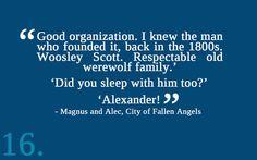 The Mortal Instruments #Alec #Magnus