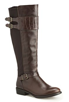 Cruz Stretch Back Tall Riding Boot-Wide Width Boots-Avenue