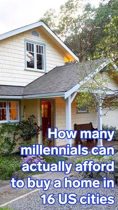 How many millennials can actually afford to buy a home in 16 of the biggest US metro areas