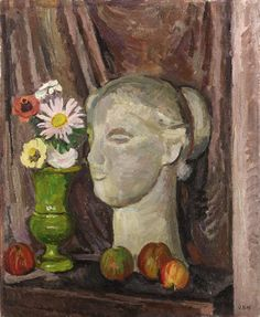 Still life with classical head, Vanessa Bell. (1879 - 1961)