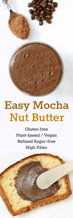 Easy Mocha Nut Butter (Gluten-free, Plant-based, Refined Sugar-free)