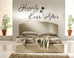 Happily Ever After Vinyl Decal Wall Sticker Wedding Decal Master Bedroom  Decal
