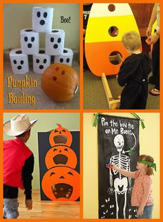 Halloween Party Games - since my son will be born around Halloween, I should accept that these games may be part of his birthday parties.
