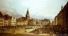 Bernardo Bellotto - Der Altmarkt zu Dresden von der Schloßstraße aus