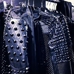 Love these jackets with spikes!! Leather and studs at #DBGshow #NYFW www.dieselblackgold.com