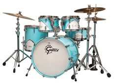 Gretsch Drums Renown Rock Shell Pack with Kick - Silver Oyster Pearl Bass Pedals, Gretsch Drums, Drum Room, African Drum, High Hat, Drum Lessons, Homemade 3d Printer, Drum Kits, Percussion
