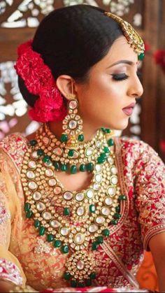 Bridal Jewelry Sets, Bridal Sets, Bridal Jewellery, Jewellery Earrings, Temple Jewellery, Bridal Necklace, Pearl Jewelry, Gold Jewelry, Bridal Makeup Looks