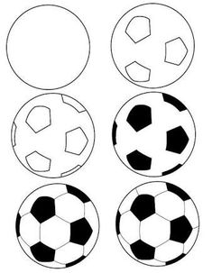 Hw to draw a football #soccermotivation