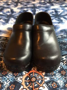 Men's Clothing Orthaheel Sasha Ii Chocolate/blue Mary Jane Clogs--size 7m