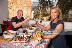 Economist and Finance Minister for the Greek government Yanis Varoufakis is photographed at his home with his wife Danae Stratou a visual artist for Paris Match on March 8 2015 in Athens Greece
