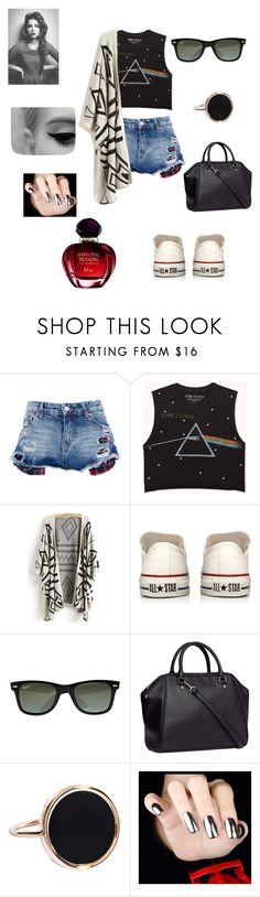 67 by braveryandlove on Polyvore featuring moda, Forever 21, Pull&Bear, Converse, H&M, Ginette NY, Ray-Ban and Christian Dior