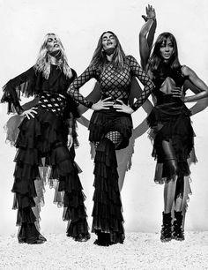 Claudia, Naomi e Cindy: supermodelos dos anos 1990 estrelam nova campanha da Balmain