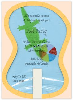 Splashing Pool Party Invitation by Meri Meri Partyware
