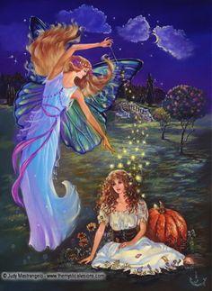 Cinderella and Fairy Godmother by Judy Mastrangelo