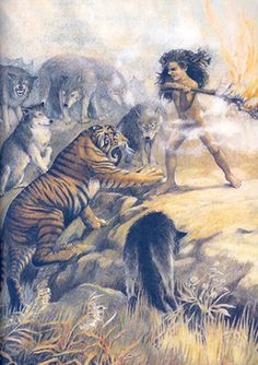 Mowgli banishes Shere Khan