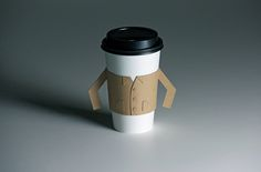 Your coffee should looks its best, no? This literal java jacket is made from the same recycled paper and serves the practical function of a typical java jacket, but it looks a bit more stylish. Fully collapsible. Sleeves are attached on a perforated edge, enabling them to fold out when the jacket is opened.