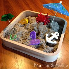 I have always loved using Play-Doh during speech therapy sessions. And clay. And rice. But sand? No way. Sand is messy and in order to build...