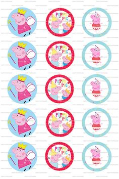 INSTANT DOWNLOAD  Peppa Pig Collage  4x6 Digital by PartyPotpourri, $1.50
