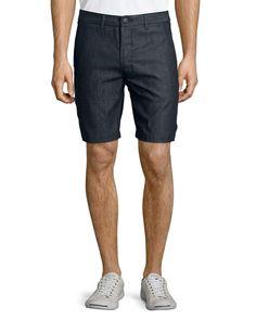 Lightweight Trouser Shorts, Navy - J Brand Jeans