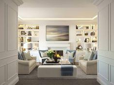 "Ventura Design on Instagram: ""Love this classic contemporary scheme we designed for a recent private project #cgi #classic #contemporary #venturainteriordesign…"" Ventura Design, Adare Manor, Cosy Room, Room Colors, Colours, Dublin, Interior Inspiration, The Hamptons, Kitchen Design"