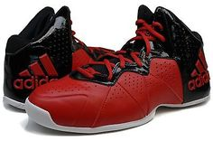 Men's Adidas Pro Smooth Feather S83992 Red Basketball Athletic Shoes Size 11.5