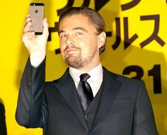 Oh snap! Leonardo DiCaprio takes a pic at the Tokyo premiere of The Wolf of Wall Street on Jan. 28
