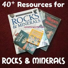 Free Resources for Rocks and Minerals- Over 40 free resources to study rocks and minerals. Free printables, unit studies, ID charts, and more. #Geology #rocks #Fossils