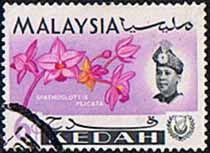 Malay State of Kedah 1965 Orchids Fine Used SG 118 Scott 109 Other Asian and British Commonwealth Stamps HERE!