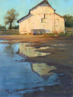 Jessie's Barn Reflection by Kim Lordier Pastel ~ 16 x 12