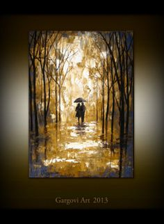Palette Knife Oil Painting  Couple In The by GargoviArtGallery, $180.00