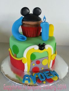 Mickey Mouse Clubhouse Cake. Sapphires & Sequins Cakery