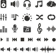 Audio Sound Music Icons and Player Buttons – Vector Set vektorkonstillustration Audio Sound Musik Icons und Player Buttons – Vector Set vektorkonstillustration Dj Tattoo, Tattoo Set, Music Lyric Tattoos, Music Lyrics, Audio Sound, Sound Of Music, Tmax Yamaha, Music Tattoo Designs, Music Drawings