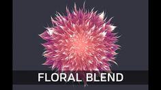 Floral Design Illustration with Blend Tool - in Adobe Illustrator